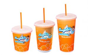 Milkshakes klein, medium en groot